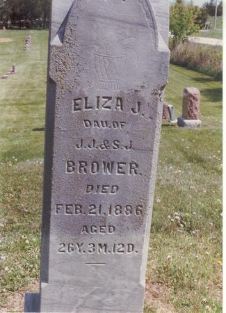 BROWER, ELIZA J. - Lucas County, Iowa   ELIZA J. BROWER