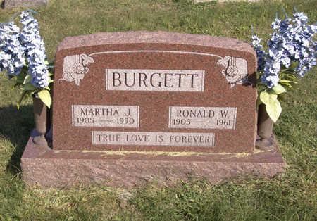 BURGETT, MARTHA  J. - Lucas County, Iowa | MARTHA  J. BURGETT