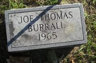 BURRALL, JOE THOMAS - Lucas County, Iowa   JOE THOMAS BURRALL