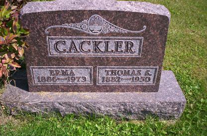 CACKLER, THOMAS S - Lucas County, Iowa   THOMAS S CACKLER