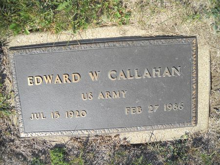 CALLAHAN, EDWARD W - Lucas County, Iowa   EDWARD W CALLAHAN