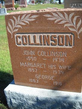 COLLINSON, GEORGE - Lucas County, Iowa   GEORGE COLLINSON