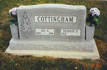 COTTINGHAM, FRANCES G. - Lucas County, Iowa | FRANCES G. COTTINGHAM