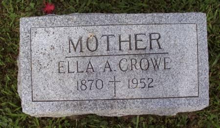 CROWE, ELLA A. - Lucas County, Iowa   ELLA A. CROWE