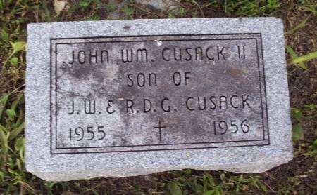 CUSACK, JOHN WM. II - Lucas County, Iowa | JOHN WM. II CUSACK