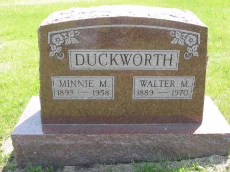 DUCKWORTH, WALTER M - Lucas County, Iowa | WALTER M DUCKWORTH