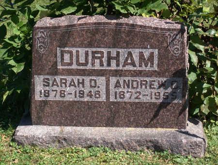 DURHAM, SARAH D. - Lucas County, Iowa | SARAH D. DURHAM