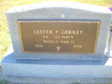 GERKEY, LESTER P - Lucas County, Iowa   LESTER P GERKEY