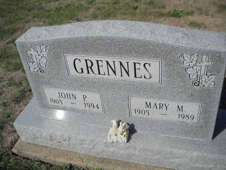 GRENNES, MARY M - Lucas County, Iowa   MARY M GRENNES