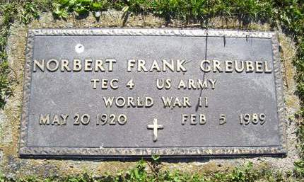 GREUBEL, NORBERT FRANK - Lucas County, Iowa | NORBERT FRANK GREUBEL