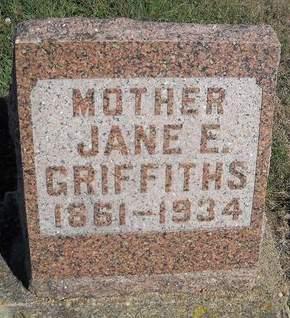 EVANS GRIFFITHS, JANE E - Lucas County, Iowa | JANE E EVANS GRIFFITHS