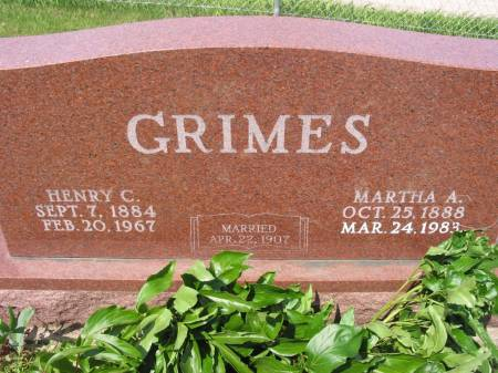 GRIMES, HENRY C - Lucas County, Iowa | HENRY C GRIMES