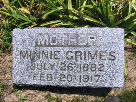 GRIMES, MINNIE - Lucas County, Iowa | MINNIE GRIMES