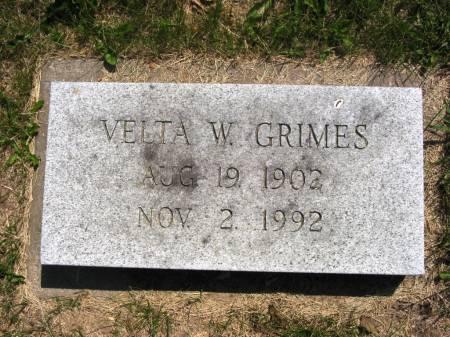 GRIMES, VELTA W - Lucas County, Iowa | VELTA W GRIMES