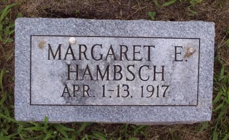 HAMBSCH, MARGARET E. - Lucas County, Iowa   MARGARET E. HAMBSCH