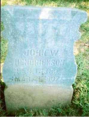 HENDRICKSON, JOHN W. - Lucas County, Iowa   JOHN W. HENDRICKSON