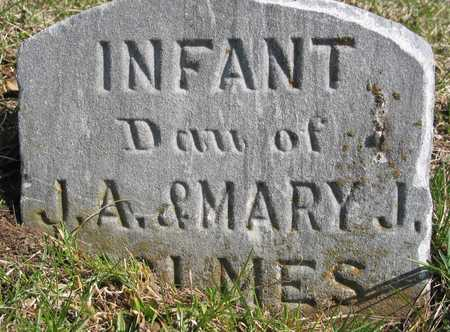 HOLMES, INFANT DAUGHTER - Lucas County, Iowa | INFANT DAUGHTER HOLMES