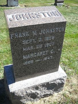 JOHNSTON, MARGARET J - Lucas County, Iowa   MARGARET J JOHNSTON