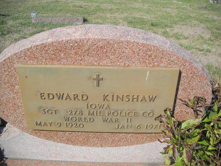 KINSHAW, EDWARD - Lucas County, Iowa   EDWARD KINSHAW