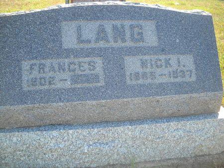 LANG, FRANCES - Lucas County, Iowa | FRANCES LANG