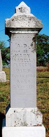 LEECH, MARY ISABELLA - Lucas County, Iowa | MARY ISABELLA LEECH