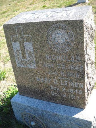 LEINEN, MARY D - Lucas County, Iowa   MARY D LEINEN