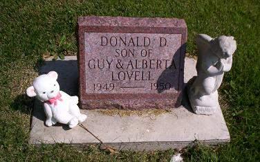 LOVELL, DONALD D - Lucas County, Iowa   DONALD D LOVELL