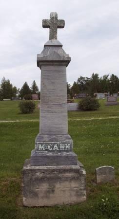 MCCANN, FAMILY STONE - Lucas County, Iowa | FAMILY STONE MCCANN