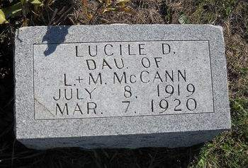 MCCANN, LUCILE D - Lucas County, Iowa | LUCILE D MCCANN
