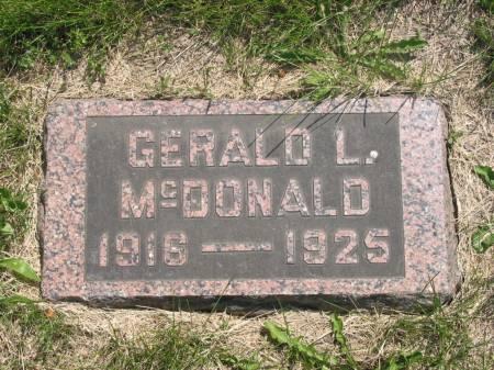 MCDONALD, GERALD L - Lucas County, Iowa | GERALD L MCDONALD