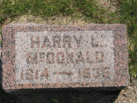 MCDONALD, HARRY L - Lucas County, Iowa | HARRY L MCDONALD