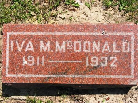 MCDONALD, IVA M - Lucas County, Iowa | IVA M MCDONALD