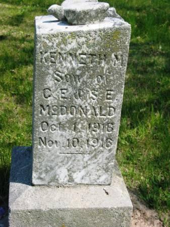 MCDONALD, KENNETH M - Lucas County, Iowa | KENNETH M MCDONALD