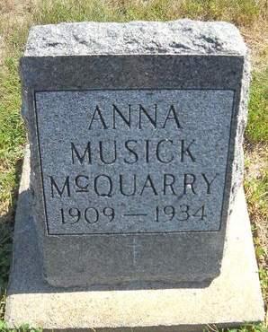 MUSICK MCQUARRY, ANNA - Lucas County, Iowa   ANNA MUSICK MCQUARRY