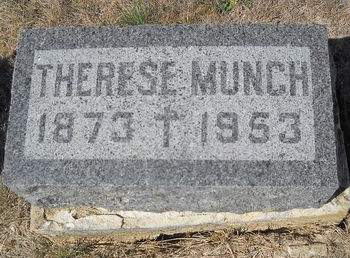 RICHARDS MUNCH, THERESE - Lucas County, Iowa   THERESE RICHARDS MUNCH
