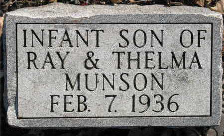 MUNSON, INFANT SON - Lucas County, Iowa | INFANT SON MUNSON