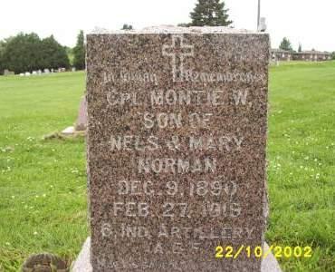 NORMAN, MONTIE W. - Lucas County, Iowa | MONTIE W. NORMAN