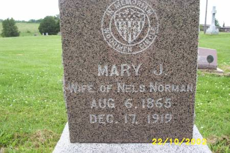 NORMAN, MARY J. - Lucas County, Iowa   MARY J. NORMAN