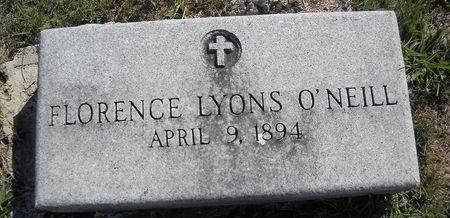LYONS O'NEILL, FLORENCE - Lucas County, Iowa | FLORENCE LYONS O'NEILL
