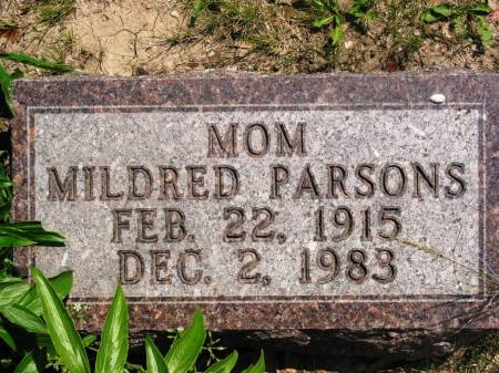 PARSONS, MILDRED - Lucas County, Iowa | MILDRED PARSONS