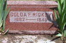 RICKEY, GOLDA - Lucas County, Iowa | GOLDA RICKEY