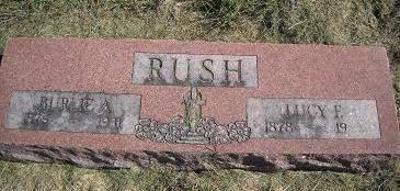 COLE RUSH, LUCY F - Lucas County, Iowa   LUCY F COLE RUSH