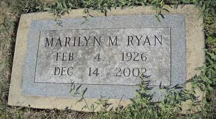 RYAN, MARILYN M - Lucas County, Iowa   MARILYN M RYAN