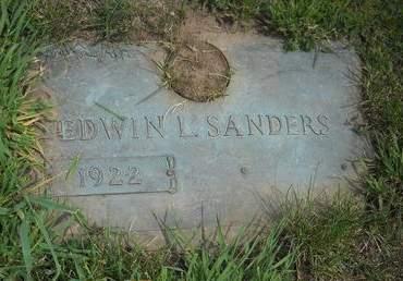SANDERS, EDWIN L - Lucas County, Iowa | EDWIN L SANDERS