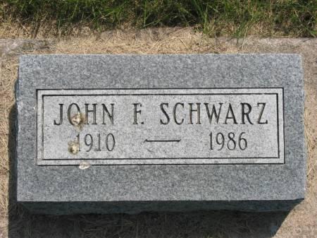 SCHWARZ, JOHN F - Lucas County, Iowa | JOHN F SCHWARZ