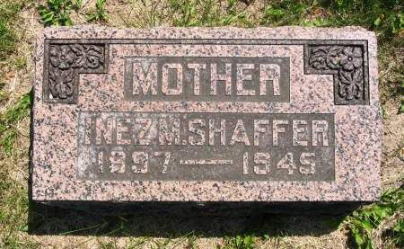 SHAFFER, INEZ M - Lucas County, Iowa | INEZ M SHAFFER