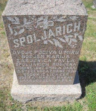 MARAS SPOLJARICH, MARIJA MARIA - Lucas County, Iowa | MARIJA MARIA MARAS SPOLJARICH