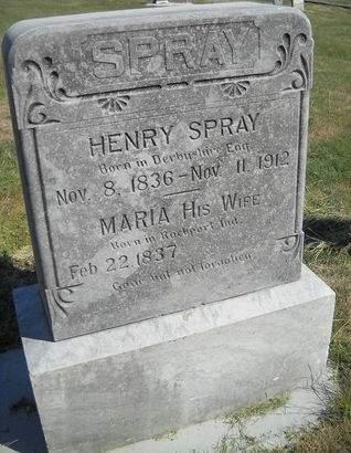 SPRAY, HENRY - Lucas County, Iowa   HENRY SPRAY