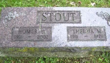 STOUT, THELMA M. - Lucas County, Iowa   THELMA M. STOUT