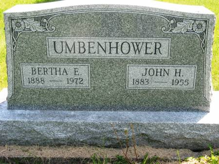UMBENHOWER, BERTHA E - Lucas County, Iowa | BERTHA E UMBENHOWER